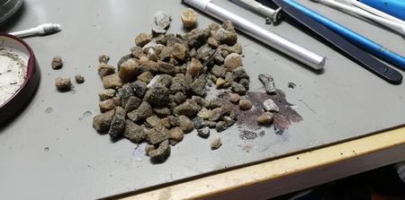 Kivien murskaus