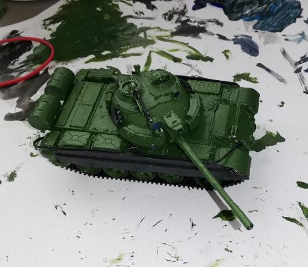 Pienoismalli T-55 AM