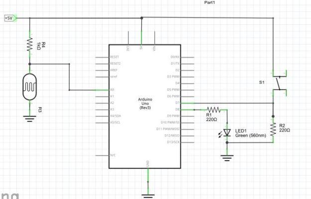 Arduino ja LDR