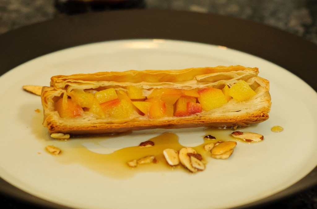 Peach Filo Log