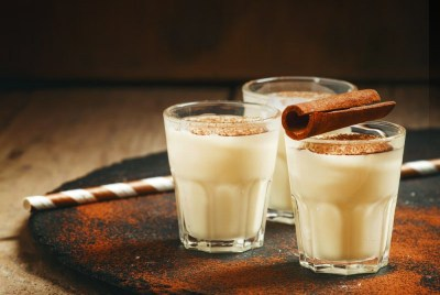 Eggnog with Pure Infused Maple Syrup Cinnamon, Nutmeg and Clove