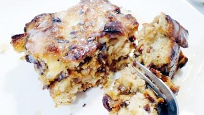 Simple Lavender Bread Pudding