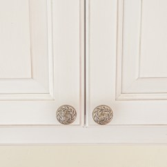 Country Kitchen Door Knobs Island Table Combination Case Study White Cabinets