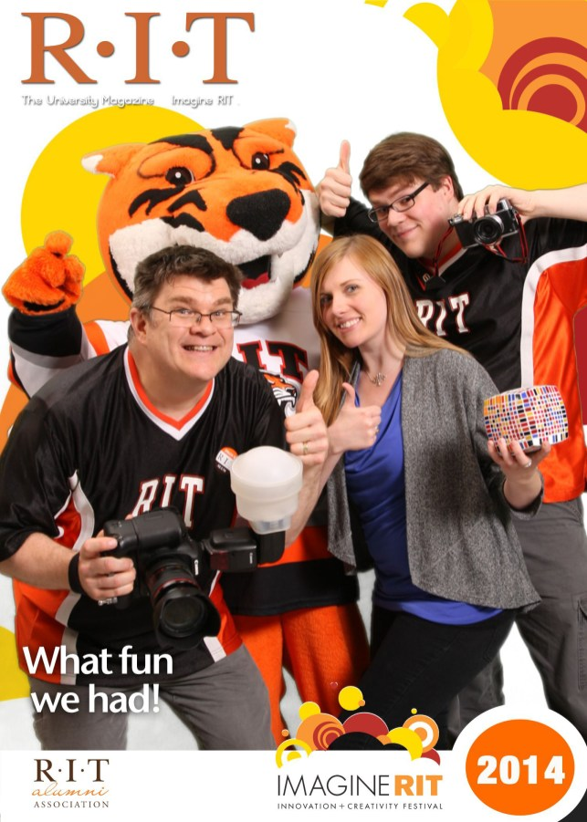with some of my PhotoTeam members (and the RIT tiger!)