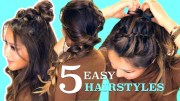 5 easy & hot hairstyles