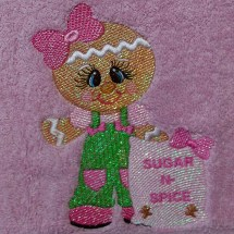 Christmas Baking Gingers Machine Embroidery Design