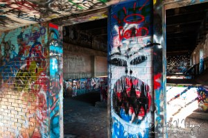 photo of graffiti in an abandoned incinerator