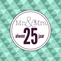 25 jaar getrouwd huwelijkswensen