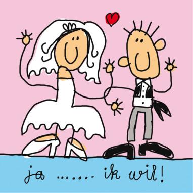 trouwen grappig