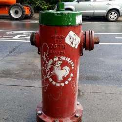 Montreal's Fire Hydrants Are Being Turned Into Giant Sriracha Bottles