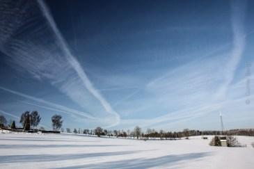 Blick über weite Winterflur