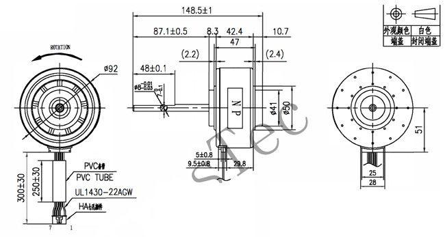 Range Hood Use 310V Dc Electric Motor Resin Packing Motor
