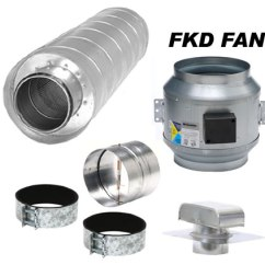 Exhaust Fan Kitchen Patio Hvacquick Fantech Component Ventilation Kits