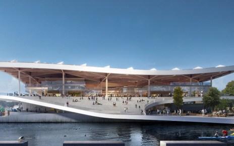 Design rendering of the Sydney Fish Market's redevelopment