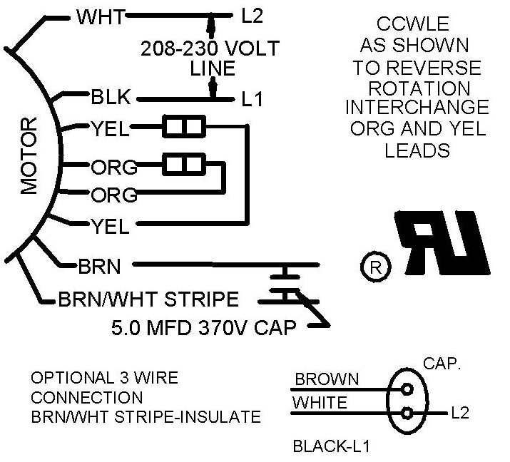 3 wire and 4 wire Condensing Fan Motor Connection - HVAC York Heater Fan Wiring Diagram on