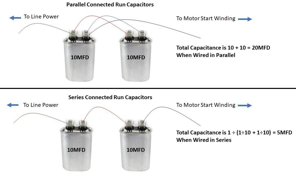 [FPER_4992]  Capacitors - Series and Parallel - HVAC School | Wiring Up A Capacitor |  | HVAC School