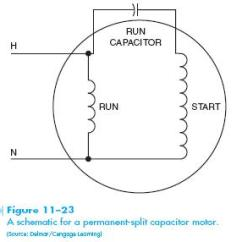 Wiring Diagram 220v Capacitor Start Motor Power Window Relay Permanent Split Hvac Troubleshooting