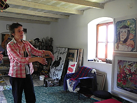 Marinka in her studio
