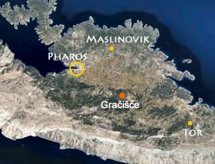 Map of the Stari Grad Plain
