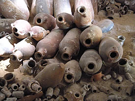 Roman amphorae from sunken galley