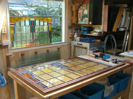 Fabricage glas in lood ramen