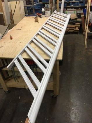 Fabricage nieuwe trapleuning