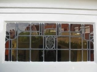 Oude glas in lood ruit