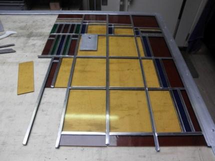 Fabricage nieuwe glas in lood ramen