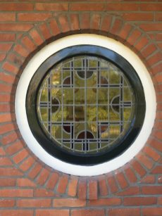 Bestaande glas in lood ruit zonder dubbel glas