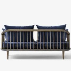 Hay Sofa Kvadrat Fernando Leather Left Hand Corner Bed Black Fly Sc2 Smoked Oak/velour Blue &tradition - Hviit.no
