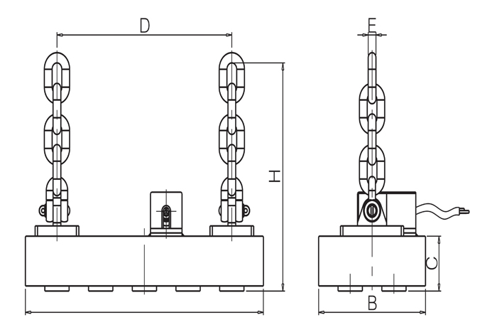 HEPMP series electro permanent lifting magnet for lifting
