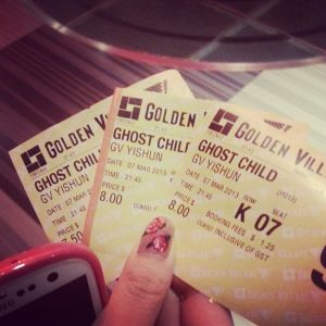 Our tickets! On a side note, I love my nails :p