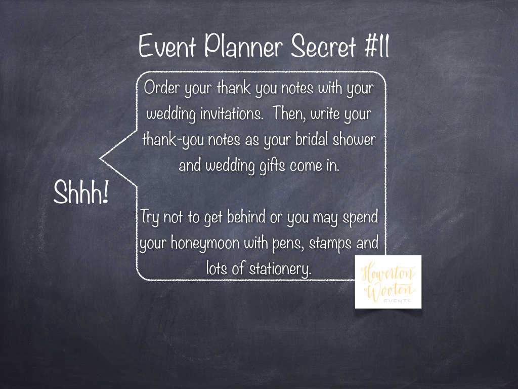 Event Planner Secret Stay Ahead of Your Thank You Notes