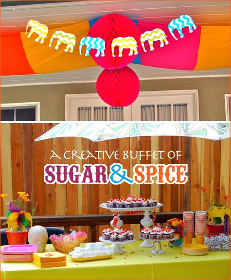 REAL PARTIES: Indian Elephant Theme // Hostess With The
