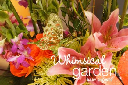 whimsical garden baby shower