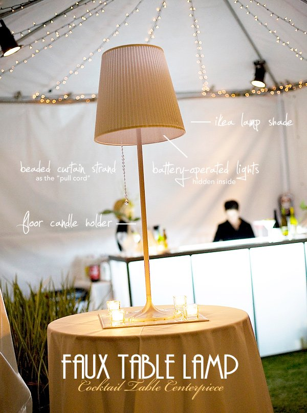 modern faux table lamp centerpiece