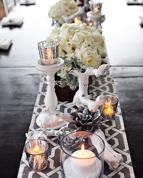 Modern Winter Glam Tablescape