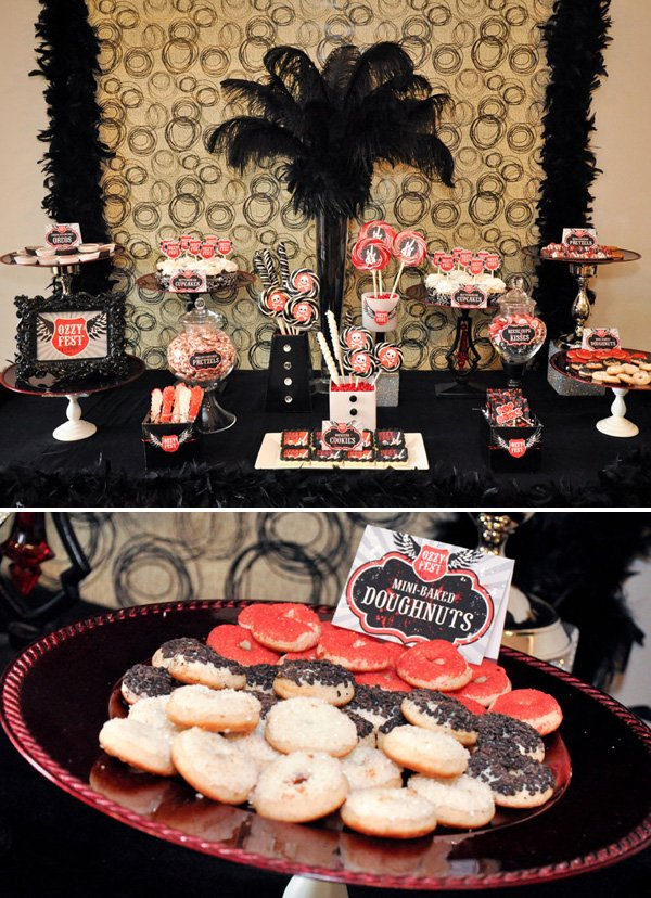 Glam Rockstar Themed Party Part 2  Hostess with the