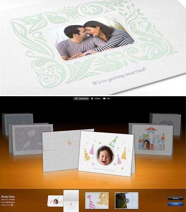 iPhoto Letterpress Cards