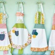 pocket full of posies party - handmade aprons for girls