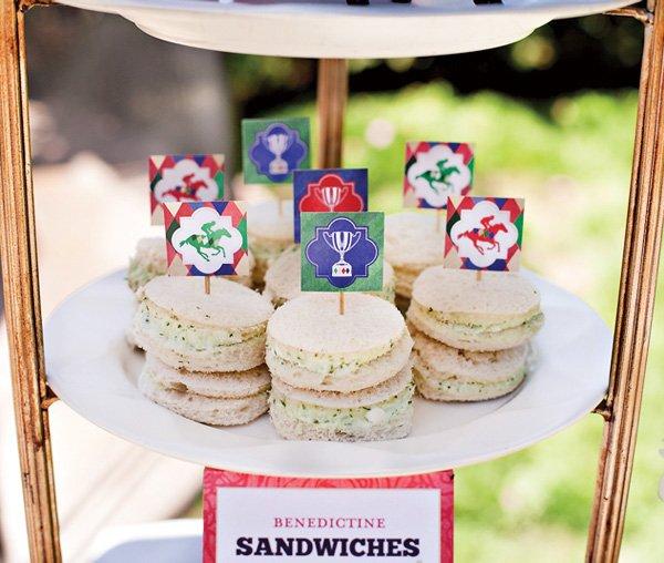 kentucky derby party benedictine sandwiches