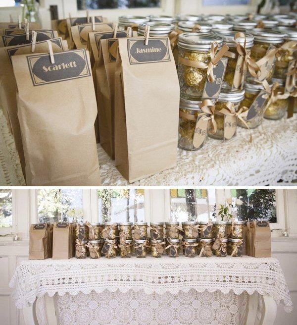 simple white wedding favors