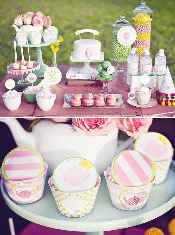 Girlie Modern Tea Party Hostess With The Mostess