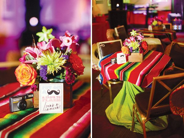mexican theme fiesta engagement party centerpiece