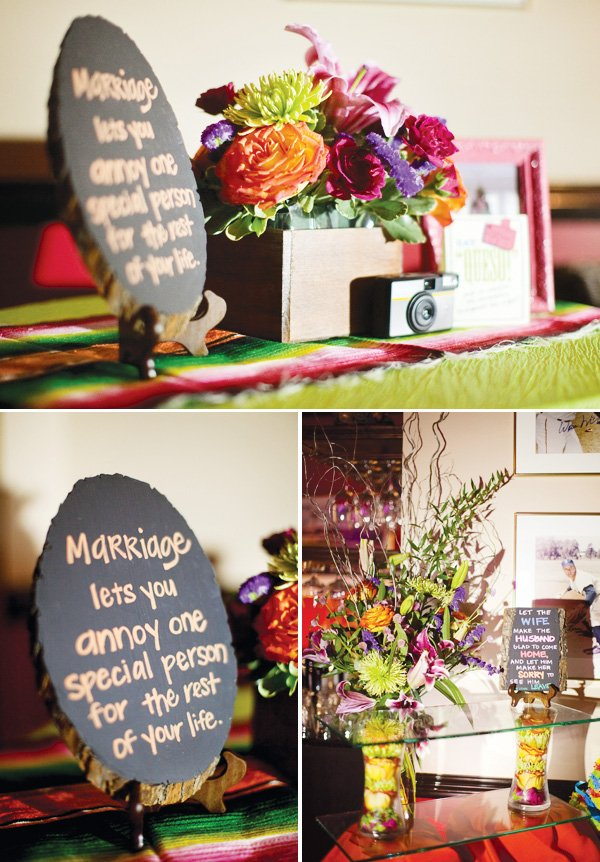 Colorful  Modern Fiesta Engagement Party  Hostess with the Mostess