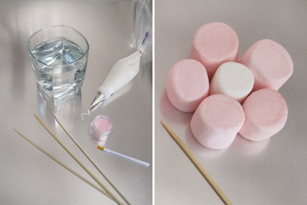 marshmallow mother's day tutorial ingredients