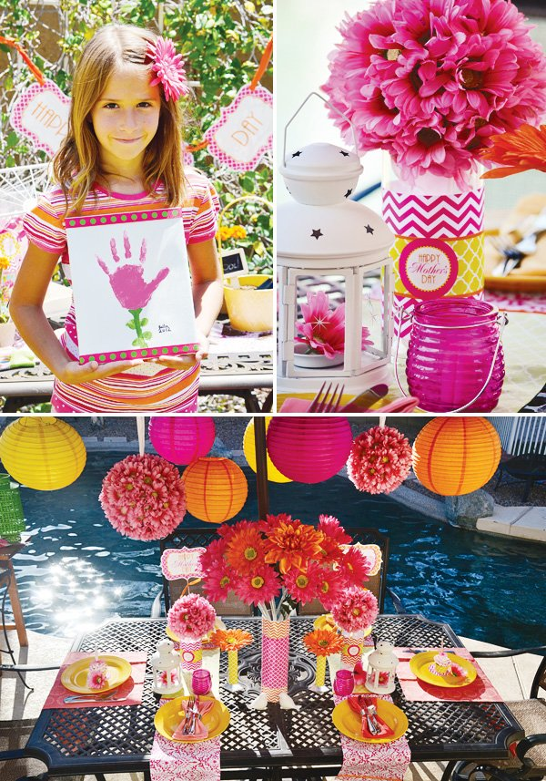 mother's day lunch table setting