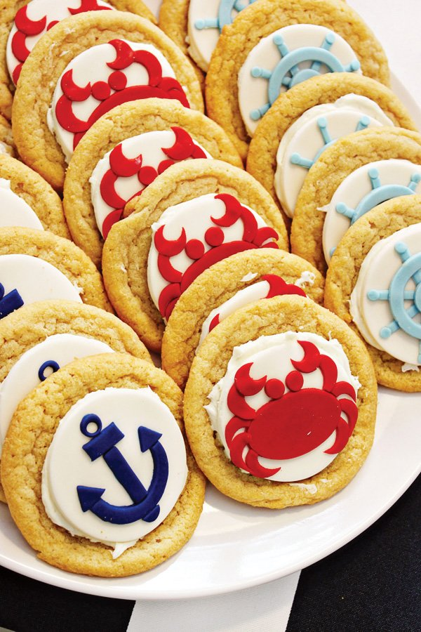 americana nautical low country boil crab party cookies