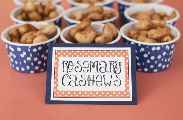 bridal shower with rosemary cashews