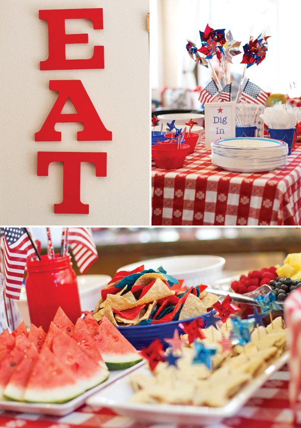 patriotic pinwheels party for july 4th